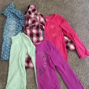 Size 7 and 7/8 Long Sleeve Shirt Lot